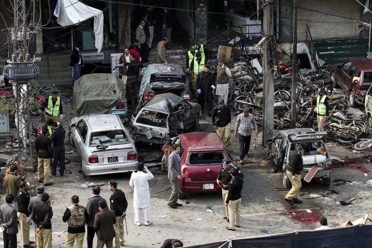 Aanslag in Pakistan. Beeld afp