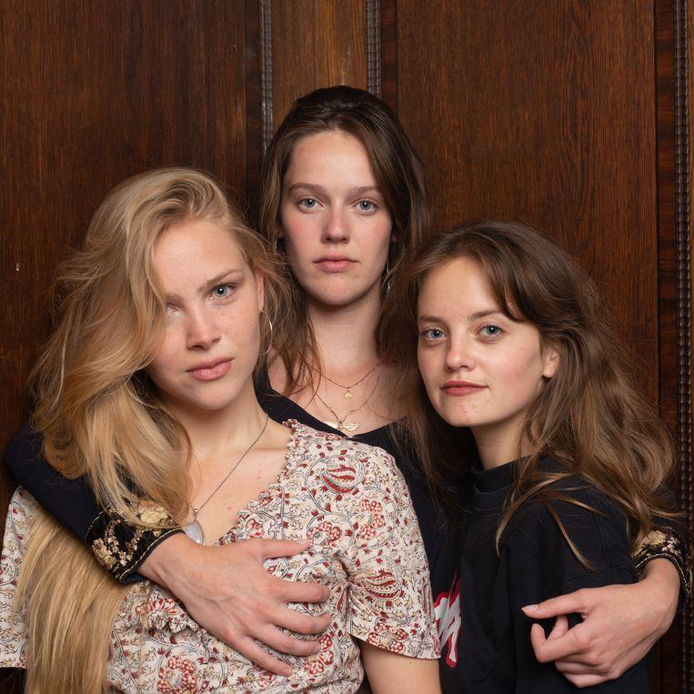 Pip, Damaris en Shelley: 'Ik dacht: wat is booming? Seks, porno!' Beeld Michiel Van Nieuwkerk