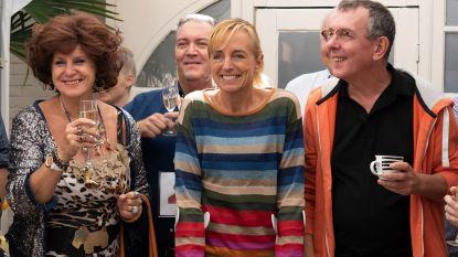 Carmen, Bieke en Marcske van FC De Kampioenen te gast op Sleutelbraderij