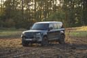 Land Rover Defender op de set van de nieuwe James Bond-film