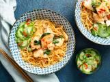 Wat Eten We Vandaag: Noedels met pittige vis en basilicum