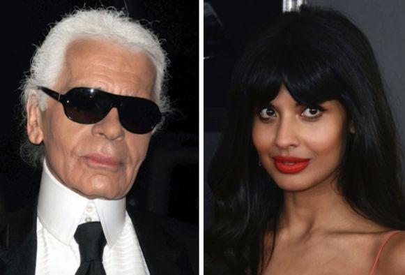 Jameela Jamil is niet te spreken over Karl Lagerfeld.