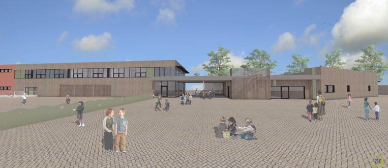 Een blik op de toekomstige nieuwbouw aan de noordzijde.