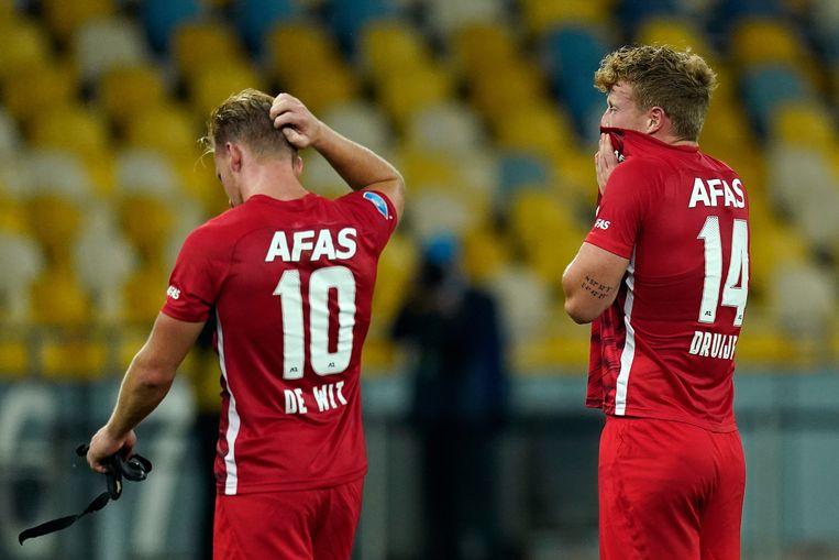 AZ verloor dinsdagavond van Dynamo Kiev in de voorronde van de Champions League. Beeld BSR Agency