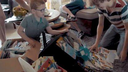 SOS HLN. Wens van Thor (7) komt uit: hij kreeg ruim 3.500 postkaartjes voor zijn communie
