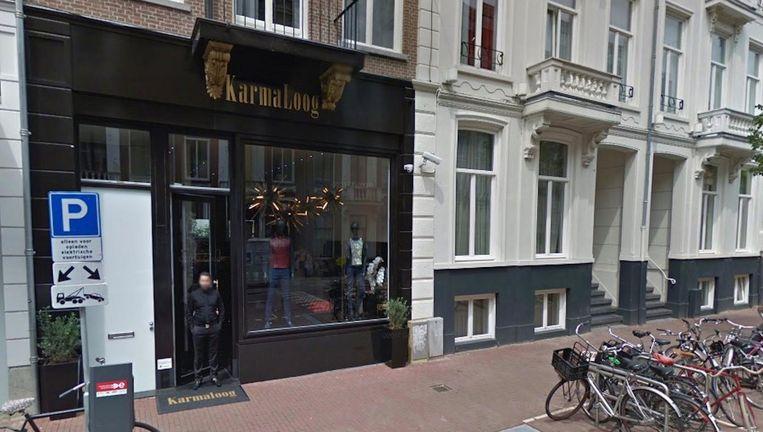 Karmaloog, de 'duurste winkel van het land', opende vorig jaar februari zijn deuren in de P.C. Hooftstraat. Beeld Google Streetview