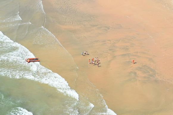 Een foto van de reddingsactie waarbij geen hulp meer kon baten voor een 25-jarige Belgische toeriste.