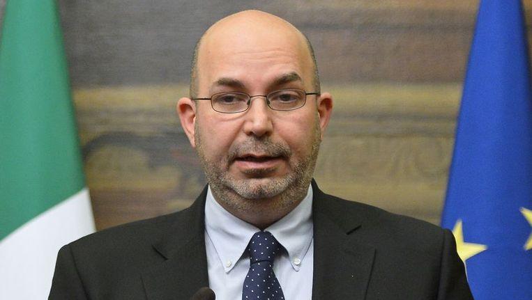 Fractievoorzitter van M5S in de Senaat, Vito Crimi Beeld afp