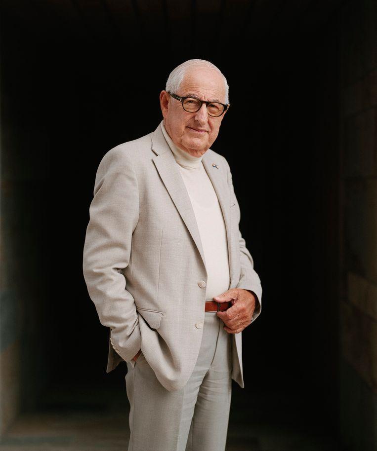 Salo Muller: 'Het doet mij verdriet dat ik jonge Joodse mensen hoor zeggen dat ze overwegen weg te gaan.'   Beeld Wouter le Duc