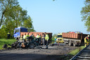 Enorme ravage bij ongeval in Brummen.