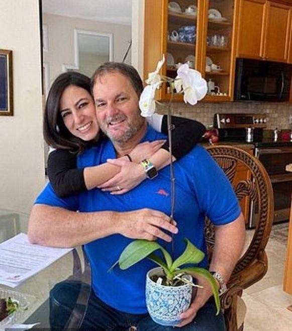 Gisselle met haar vader.