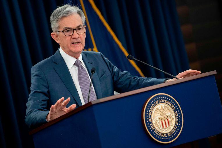 Voorzitter van de Federal Reserve Jerome Powell op archiefbeeld.