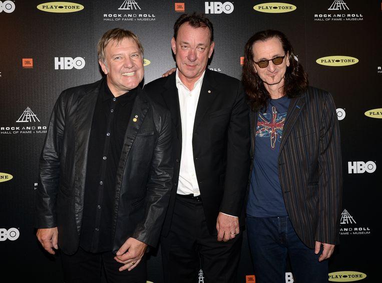 Rocktrio Alex Lifeson, Neil Peart, en Geddy Lee.
