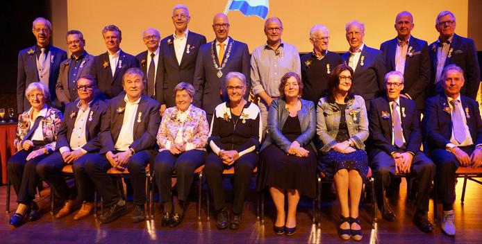 De gedecoreerden in de gemeente Den Bosch. Foto: Gerard Monté.