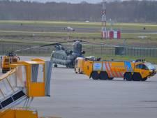 Chinook met technische problemen veilig geland op Vliegbasis Eindhoven