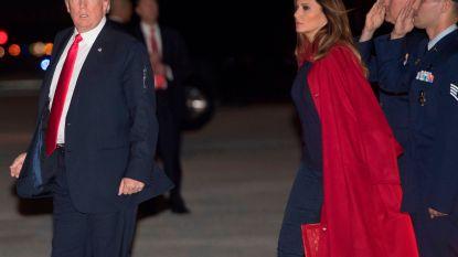 VIDEO: Melania keurt echtgenoot Donald Trump geen blik waardig bij aankomst in Mar-a-Lago