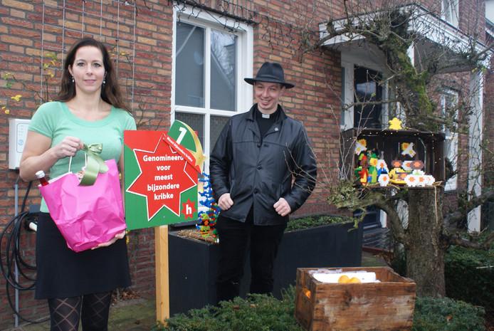 Anouk van Beerlage is uitgeroepen tot winnaar van de wedstrijd 'Meest bijzondere Kribke' van de Kribkesroute in Liempde.