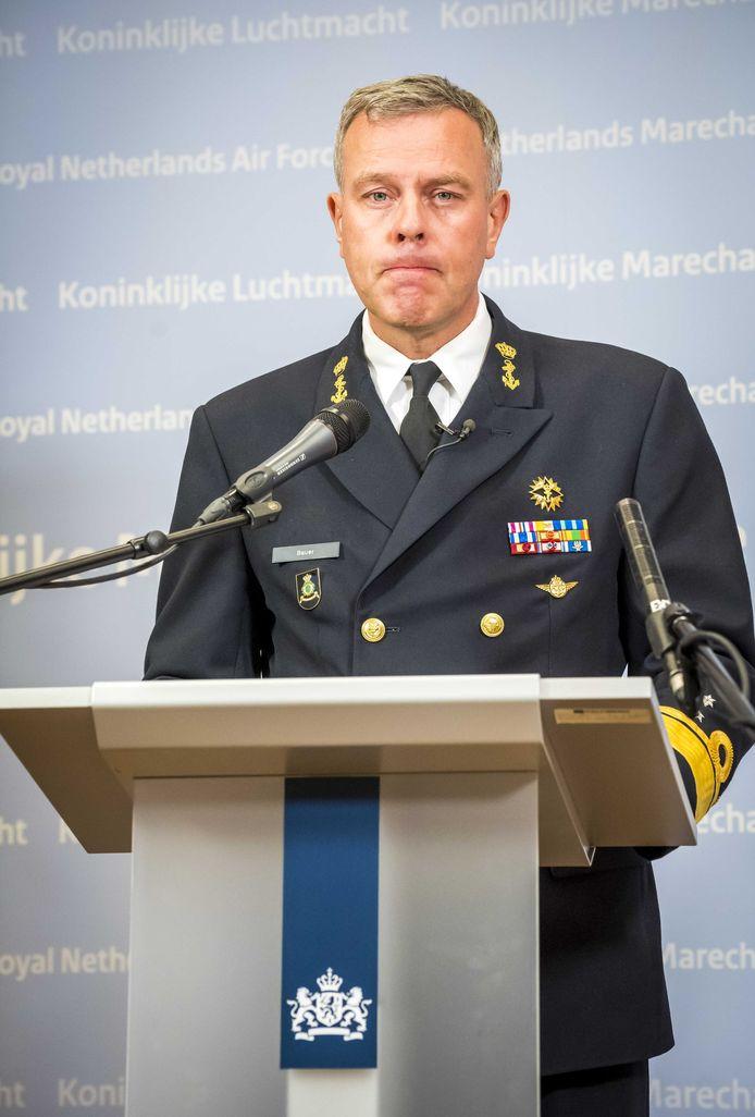 Commandant der Strijdkrachten Rob Bauer sprak van een 'heftige schok voor iedereen'.