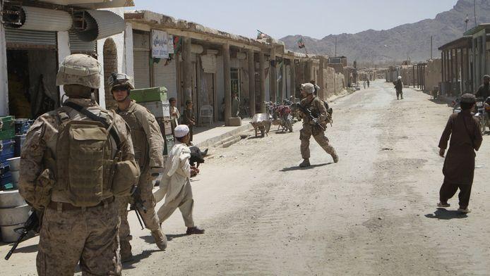 Patrouille eerder in de zo gewelddadige stad Kabul.