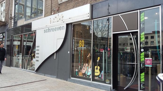Muziekwinkel Schreeven aan Plein 1944 in Nijmegen.