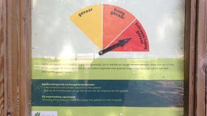 Code geel voor brandgevaar in natuurgebieden Antwerpen en Limburg