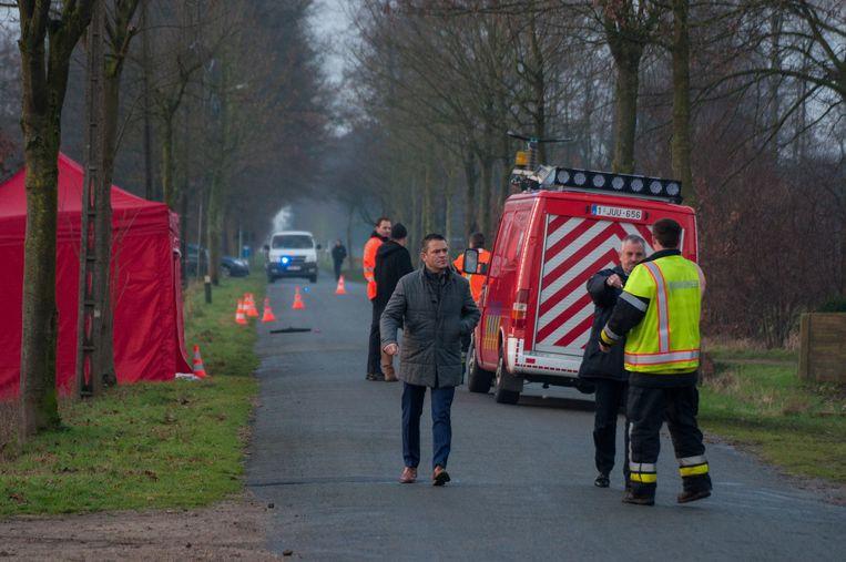 Het ongeval gebeurde op een recht stuk van de Heidestraat in Meeuwen (Oudsbergen)