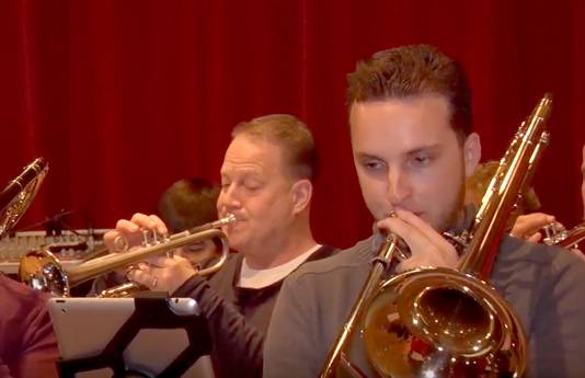 Mark Stroop en Peter Bogers (links) speelden mee bij de reptitie van de Grande Finale in Roosendaal.