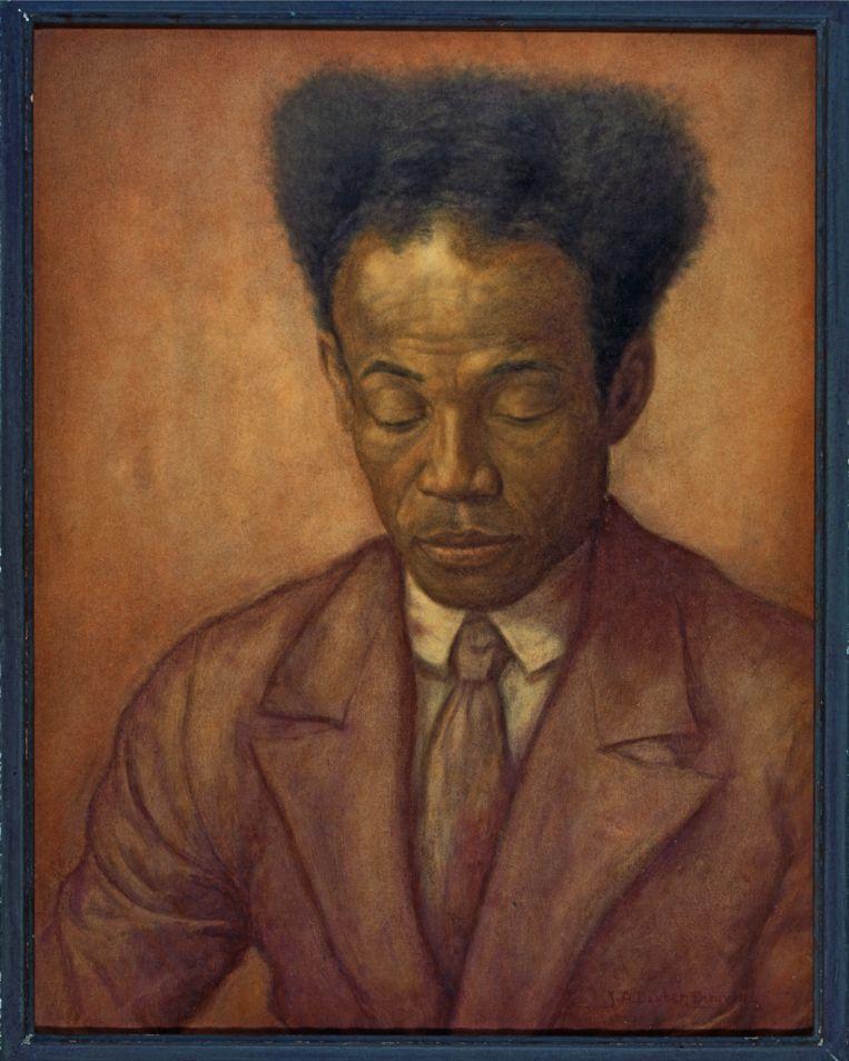 Pasteltekening van Antoine Gerardus Henri de Kom door J.A. Donker Duyvis (1887-1960). Beeld Collection Nationaal Museum van Wereldculturen