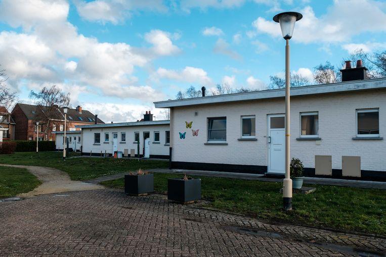 De sociale woningen in de Parkwijk.