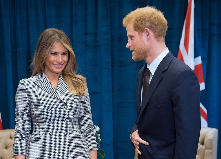 Melania ontmoette deze week de zoon van prinses Diana, prins Harry.