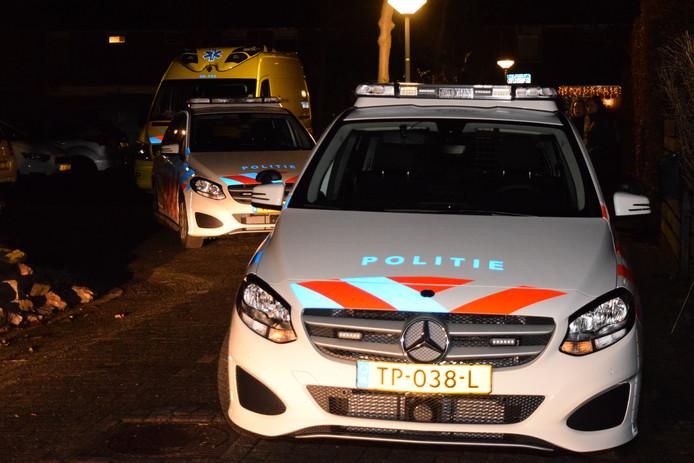 Hulpdiensten aan de Haverdreef in Doetinchem na een steekincident in een woning.