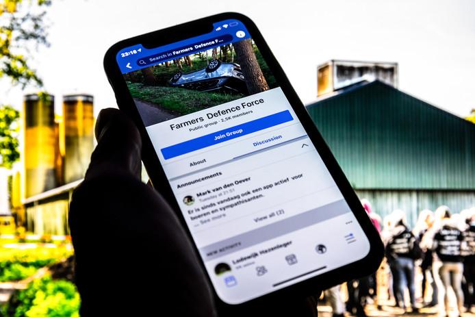 De Facebookgroep Farmers Defence Force werd opgericht na de stalbezetting in Boxtel.