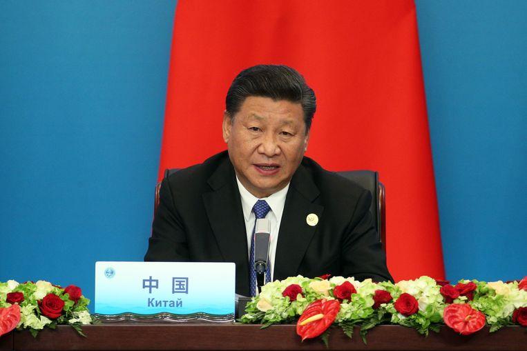 President Xi Jinping tijdens de 18e Shanghai Cooperation Organization bijeenkomst in Qingdao city (2018). Beeld ANP