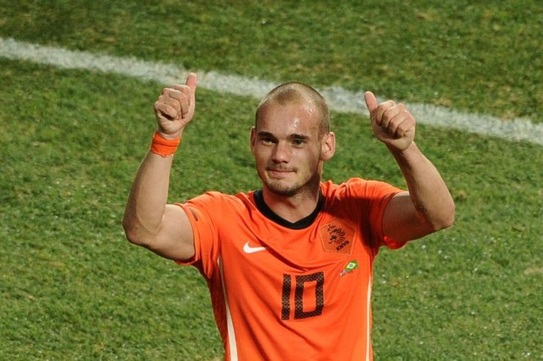 Wesley Sneijder werd medetopschutter op het WK.