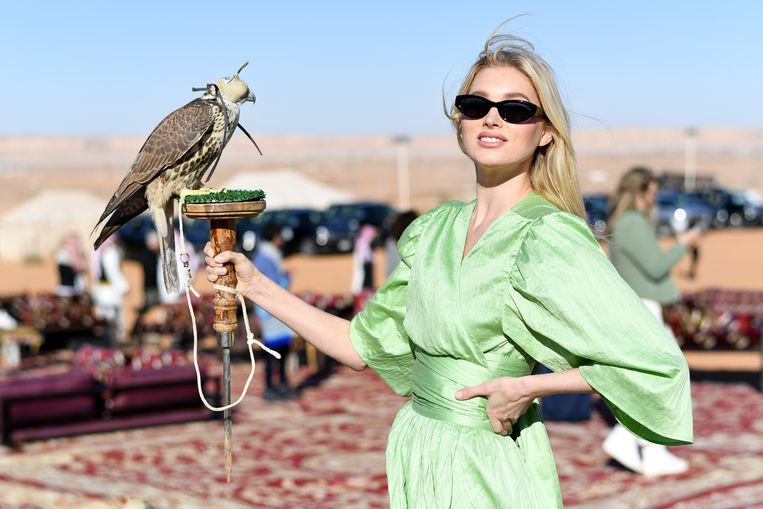 Influencer Elsa Hosk in Saoedi-Arabië. Beeld Daniele Venturelli/Getty Images