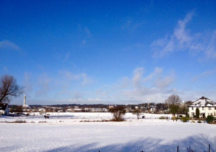 Een mooi besneeuwd Meinerswijk in Arnhem.
