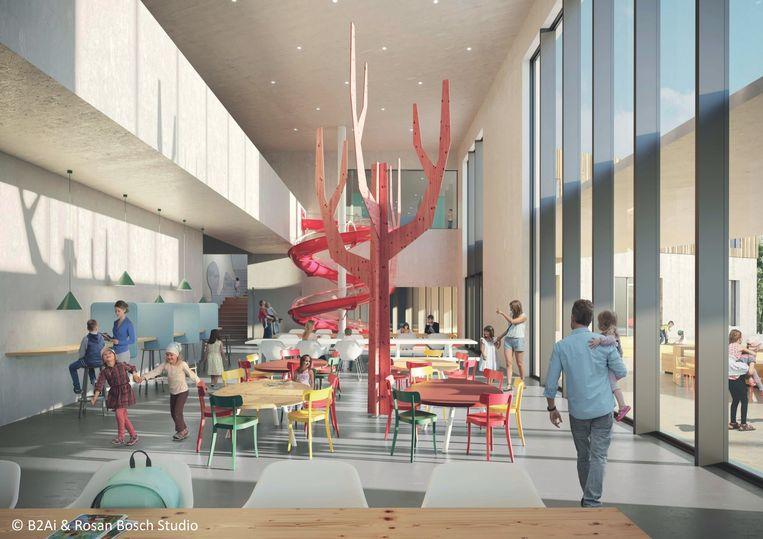 Het nieuwe gebouw krijgt een centrale ruimte.
