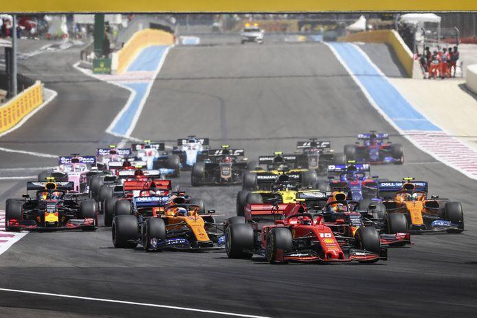 De Grand Prix van Frankrijk, vorig jaar.