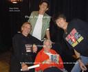 Sjaak Jorritsma met  Charlie, Ron en Keith in Berlijn.