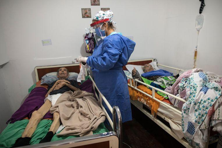 Een bejaardenhuis in Lima Beeld AP