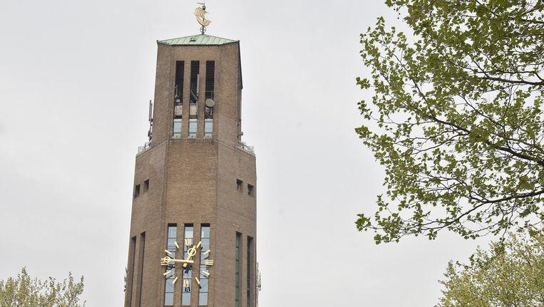 De Poldertoren is een watertoren die in het centrum van Emmeloord staat. Beeld ANP