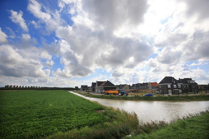 Nieuwbouw op Goeree-Overflakkee in 2017.
