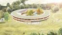 Het paviljoen waarin het Zorghotel zou worden gevestigd, komt helemaal los te staan van De Zwanenhof zelf.