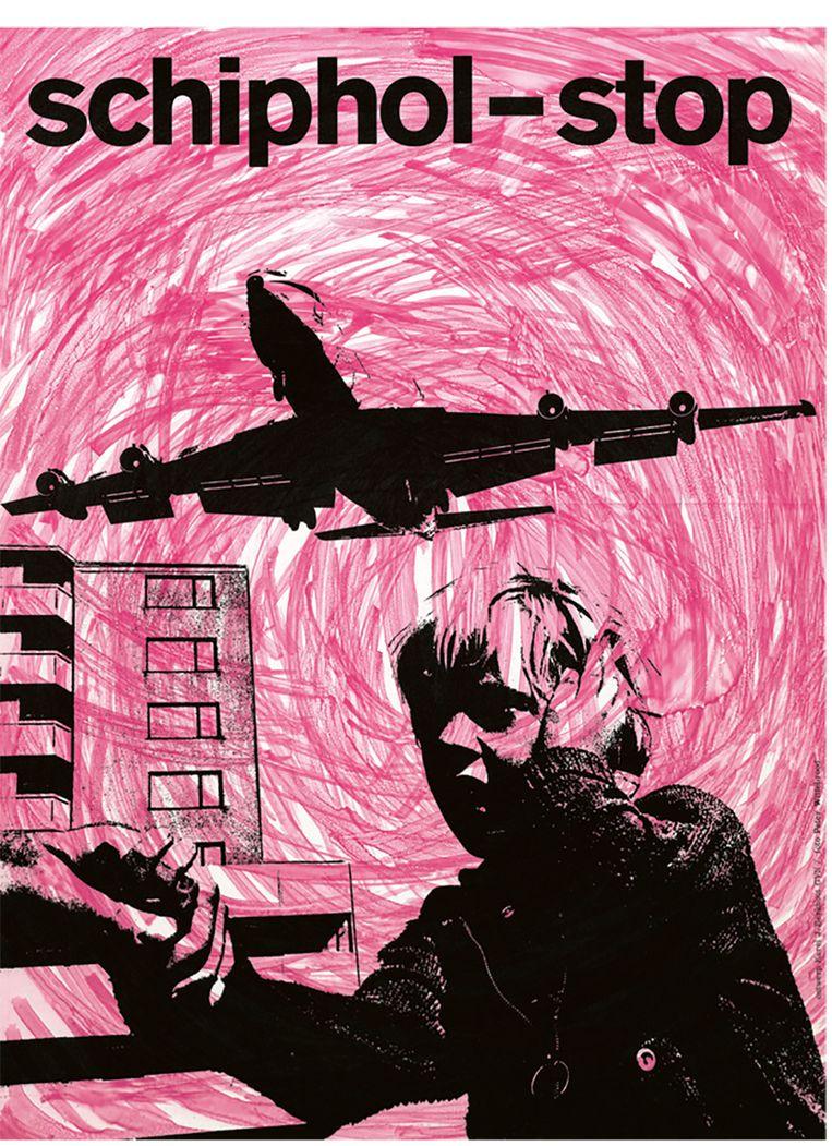 Affiche uit de jaren negentig Beeld Schiphol - biografie van een luchthaven
