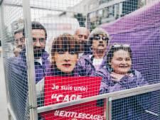 Bénédicte Philippon s'enferme dans une cage pour dénoncer les conditions d'élevage