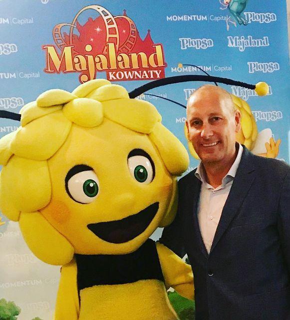 Gert Verhulst op de opening van Majaland Kownaty in Polen.