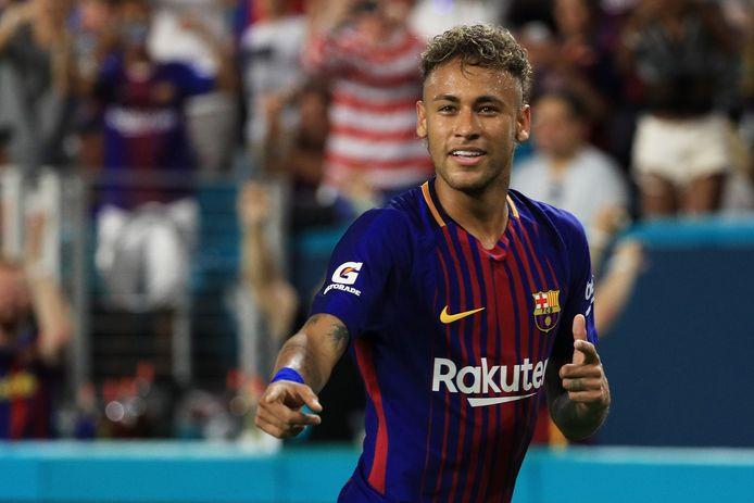 Neymar in het shirt van Barcelona.