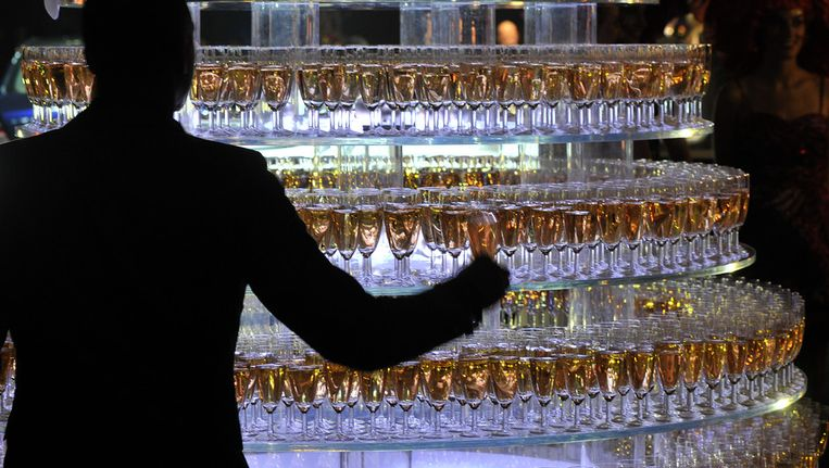 Champagne, vorig jaar op de Miljonair Fair Beeld