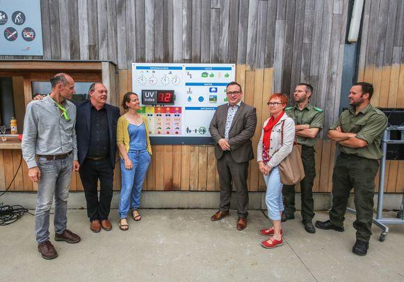 De nieuwe UV-meter werd woensdag voorgesteld in provinciedomein De Gavers.