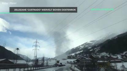Zeldzaam fenomeen 'gustnado' wervelt boven Oostenrijks dorp